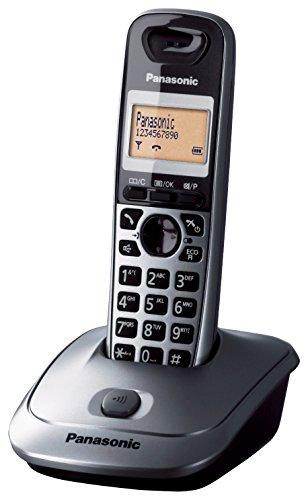 Panasonic KX-TG2511SPM - Teléfono DECT Inalámbrico (Alarma, Pantalla LCD monocroma, Capacidad de lista de direcciones: 50, Remarcado), Gris