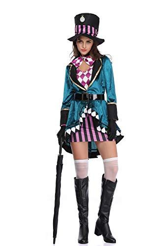 thematys Alice im Wunderland Hutmacher Kostüm Damen - Kostüm-Set perfekt für Fasching, Karneval & Cosplay - 3 Verschiedene Größen (XL) (Disney-figur Halloween-kostüme Für Erwachsene)