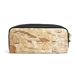 mydaily Vintage estuche antigua aventura mapa lápiz bolsa de cosméticos bolso de la bolsa del monedero, color Vintage Map-3 7.87 x 3.35 x 2.16 inches