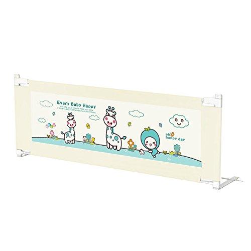Barrières de lit Xiaolin Le lit de d'enfant de bébé déferle Le Levage Vertical de Garde-Corps de lit d'anti-Chute de bébé (Couleur : Beige, Taille : 200cm)