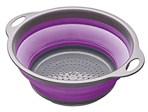 Colourworks Passoire rétractable 2 poignées (Violet)