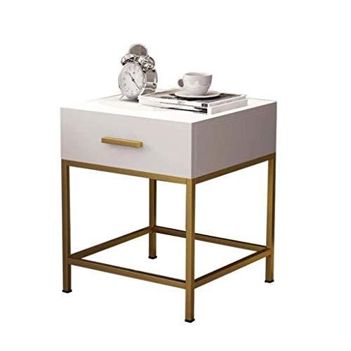 L.TSA Couchtisch Beistelltische Einfache Moderne Nachttisch Nordic Sofa Beistelltisch Gold Schmiedeeisen Couchtisch Schlafzimmer Massivholz Beistelltisch -
