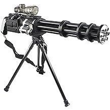 Brigamo 502 - Elektrische Minigun Gatling Gun inkl. Akku schießt HYDROGEL Kugeln die beim Aufprall zerplatzen!