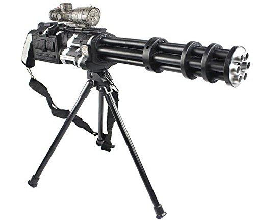Elektrische Minigun Gatling Gun schießt HYDROGEL Kugeln die beim Aufprall zerplatzen!