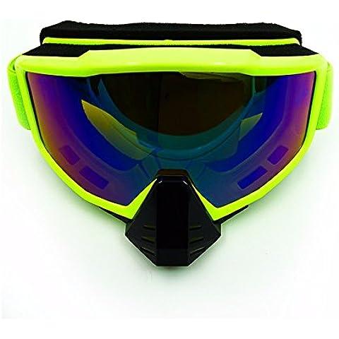 KHSKX Motociclo fuoristrada sabbia-prova occhiali occhiali sportivi outdoor sci equitazione gogglesE