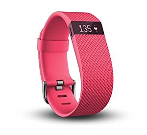 Fitbit Charge Heart Rate and Activity Wristband, Large (Pink)