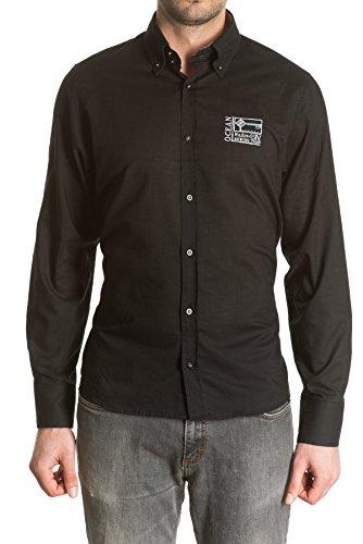 di-prego-camisa-de-hombre-manga-larga-color-negro-con-bordado-punos-reversibles-blancos-con-botones-