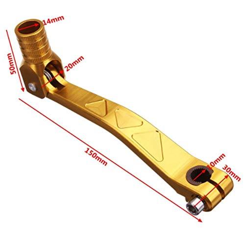 JenNiFer Universal CNC Folding Aluminium Schalthebel Hebel Für Motorrad ATV Dirt Bike 4 Farbe - Gold -
