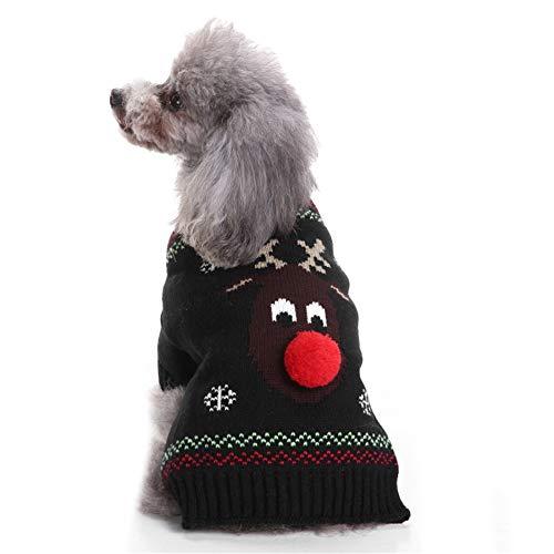 TUOTANG Suéter Perro Suéter Navidad Mascotas Ropa