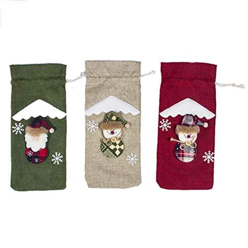 ACMEDE Weihnachtsmann Flasche Tasche Schneemann, Wine Bag für Weihnachten, Weihnachten Party Dinner Dekoration