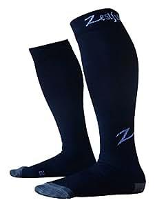 Zestful Calze di sostegno per ginocchia, modello elegante, un paio, compressione: 20-30 mmHg, nero, M