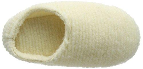 Woolsies Damen Waffle Flache Hausschuhe Beige (Cream)