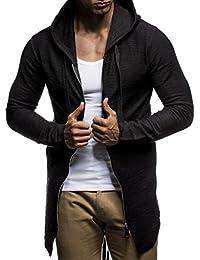 LEIF NELSON Uomo oversize Felpa con cappuccio giacca con cappuccio felpa con cappuccio ln6301