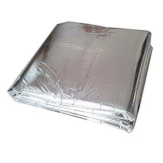 Ruesious Vehículo Insonorizante Forro Aluminio Papel Adhesivo 5mm de Espesor Espuma Aislante de Calor Aislamiento Térmico Acústico Impermeable Hidrófugo Sonido Amortiguador 140cm x 100cm