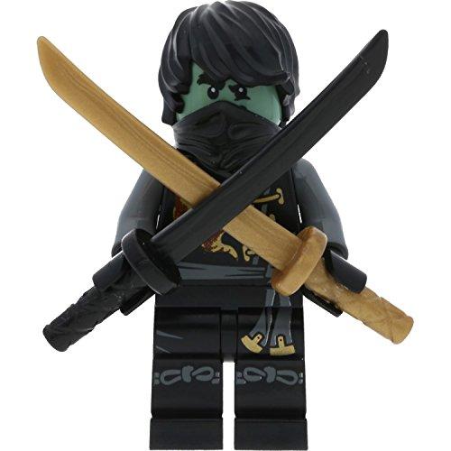 LEGO Ninjago Minifigur Cole als Geist - Skybound aus Set 70593 mit 2 GALAXYARMS Schwertern