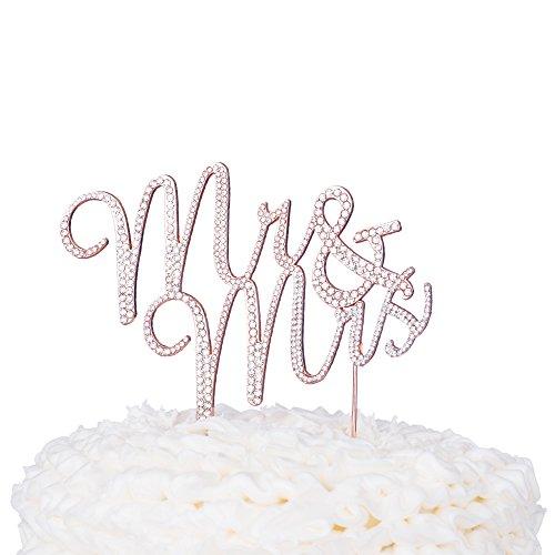 Mr & Mrs Hochzeit Cake Topper, Strass Monogramm Dekoration (Strass-monogramm)