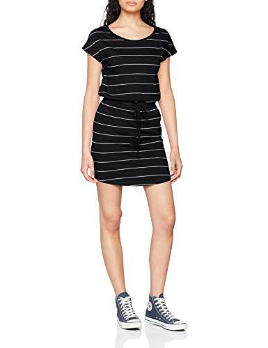 ONLY NOS Damen Onlmay S/S Dress Noos Kleid, Mehrfarbig (Black Thin Stripe Cl. Dancer), 42 (Herstellergröße: XL) - Baumwolle Jersey Kleid Shirt