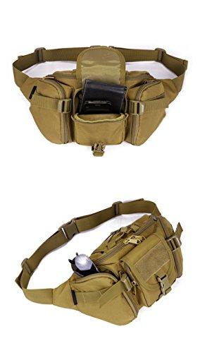YAAGLE Armee Fans Outdoor Herren militärisch Brustbeutel wasserdicht Freizeit Hüfttasche Kuriertasche Reisetasche Fahrradrucksack Schultertasche-schwarz Tarnung 1