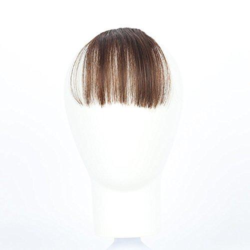 opower Air Pony Clip In gerade Front Haar Pony Haar Haarteil dünn ()