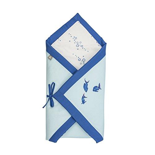 MonaMoon® | Wickeldecke / Schlafsack für Neugeborene Baby | Bambus Baumwolle oder Algen | Anti allergisch | Hypoallergenische Füllung | 75x75cm | Made in EU | In vielen Farben erhältlich