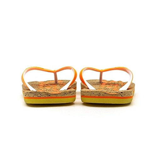 Superdry Zehentrenner Women CORK GF3KS279 Cork Fluro Orange Lemon Yellow Mehrfarbig