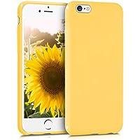 kwmobile Funda para Apple iPhone 6/6S - Case para móvil en TPU silicona - Cover trasero en amarillo mate
