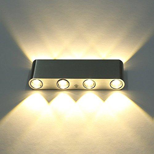 VanMe Moderne Led-Wandleuchten Rechteck Aluminium Leuchte 8 Led High Power Up Down Wandleuchte Wandleuchten