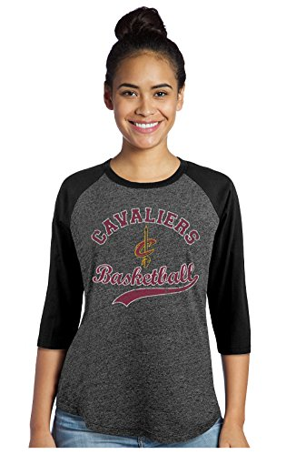 Fan Womens Raglan (Majestic Athletic NBA Damen Raglan Triblend 3/4 Ärmel, Damen, Women's Premium Raglan, schwarz, Small)