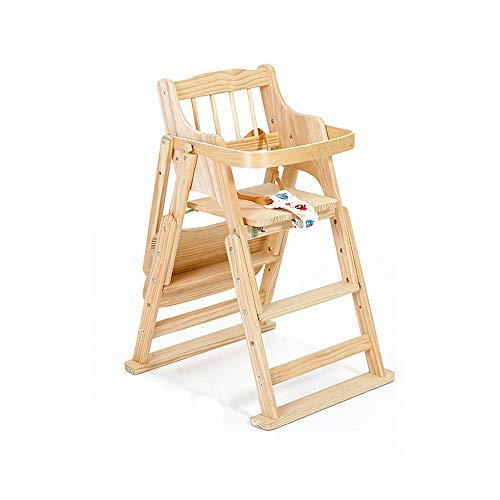 YQQ-Chaise pliante Enfant Chaise Bébé Multifonctionnelle Table À Manger Portable pour Bébé Tabouret Bébé Chaise De Salle À Manger pour Enfants Siège en Bois Massif