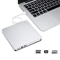 ‏‪External DVD-RW Drive Burner, USB 2.0 VCD/CD/DVD Player Optical Reader Burner ROM CD Drive for Portable Laptop‬‏
