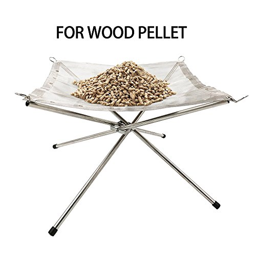 Portable Stainless Steel Mesh Outdoor Camping Fire Pit with a Carry Bag for Camping or Patio Garden fire Party