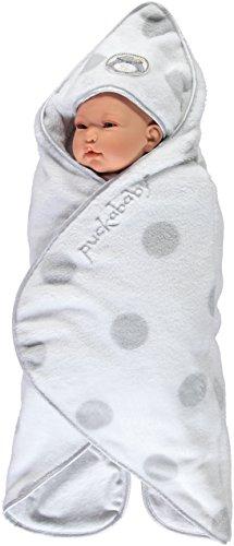 Puckababy® GOGO TEDDY White – sehr schöne und warme Einschlagdecke - 0/7 M