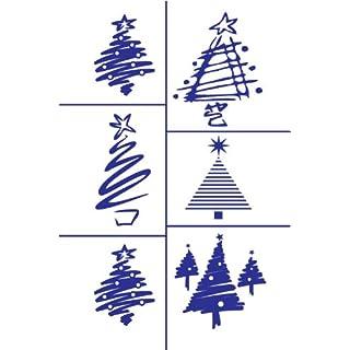 Armour Etch Stencil Rub N Etch Stencil, Christmas Tree, 5-Inch by 8-Inch