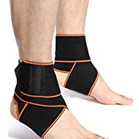 1 Pair Ankle Brace Adjustable Ankle Support