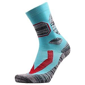 HATCHMATIC Laufen 1 Paar Herren-Socken Lage Außen Orts Wandern Camping Radfahren Laufen Compression Trekking Ski Socken: Sky Blue