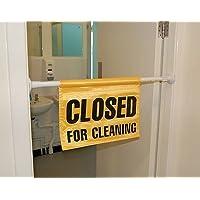Cerrado para la limpieza de para colgar de la puerta–señal de advertencia–ligero daños–Limpieza.