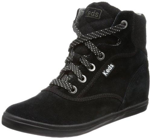 Hidden Wedge Boot (Keds Rookie Hidden Wedge Suede WH48714, Damen Chukka Boots, Schwarz (black), EU 36 (UK 3.5) (US 6))