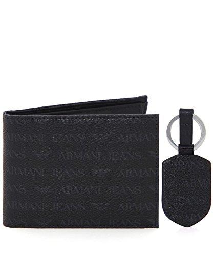 armani-jeans-mens-faux-leather-wallet-set-black-one-size