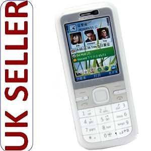 Weiß Silikon Hülle Case Cover Tasche für Nokia C5