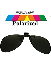 Round Clip On Black Lens Polarized Sunglasses Smalco111