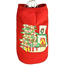 doggiekitty led beleuchtung fustige haustier wintermantel kostm kapuzenpulli kleidung kapuzenpullover fr hunde weihnachtsgeschenk weihnachtsbume und - Kaminmantel Hitzeschild