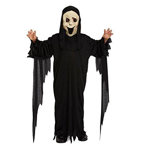 Scream-/Geist-/Dämon-Kostüm - Kinder/Jungen - Halloween-Kostüm - Scream-Maske