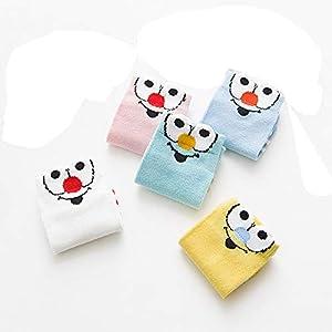 RUOHAN Kinder Socken 5 Paar Kindersocken Baumwoll-Kindersocken Runde Nase Clown Mittlere Und Kleine Kinder Baumwollbootsocken