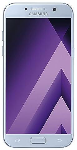 Samsung Galaxy A5 2017 Smartphone portable débloqué 4G (Ecran: 5,2 pouces - 32 Go - Nano-SIM - Android) Bleu (Carte SIM européenne uniquement)