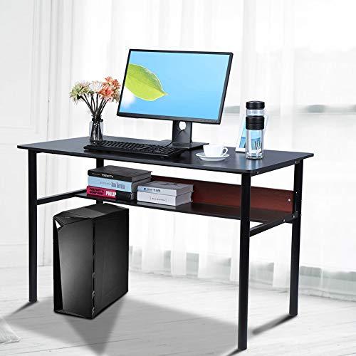 Zoternen Mesa de Ordenador con Estante 120 x 60 x 74cm Escritorio ...