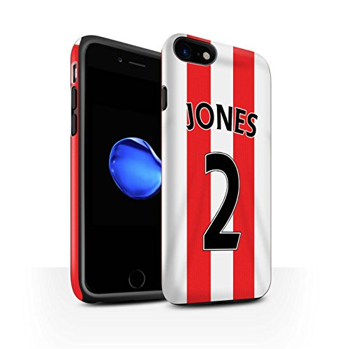 Officiel Sunderland AFC Coque / Matte Robuste Antichoc Etui pour Apple iPhone 7 / Van Aanholt Design / SAFC Maillot Domicile 15/16 Collection Jones