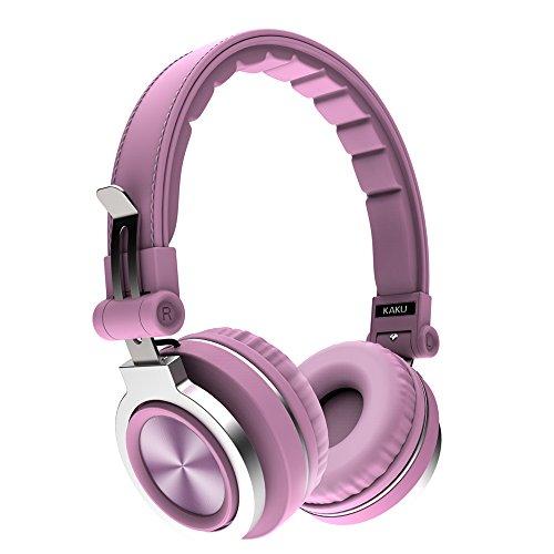 Bluetooth Kopfhörer auf Ohr, 40mm Fahrer-drahtloser Kopfhörer faltbar mit Mic, verdrahtete und drahtlose Kopfhörer für Handy / TV / PC