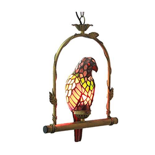 QYQ Tiffany Bar Gang Balkon Kreative Papagei Dekoration Kronleuchter Chinesische Retro Beleuchtung...