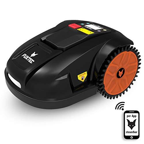 Fuxtec Mähroboter FX-RB144 Akku Rasenmäher ideal zum mähen von Flächen bis 1500m² - auch bei Regen,Gewicht 16kg, Anti-Diebstahlschutz,Steuerung(Auto/manuell) per App(IOS&Android) über WiFi möglich