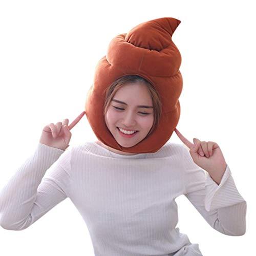 Lonshell Novelty Tier Plüsch-Mütze Themenpartys Kostüm Kopfbedeckung Lustige Tiermütze Fischmütze Faschingshut Karneval Cap (A)